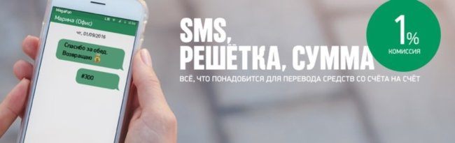 перевод через СМС