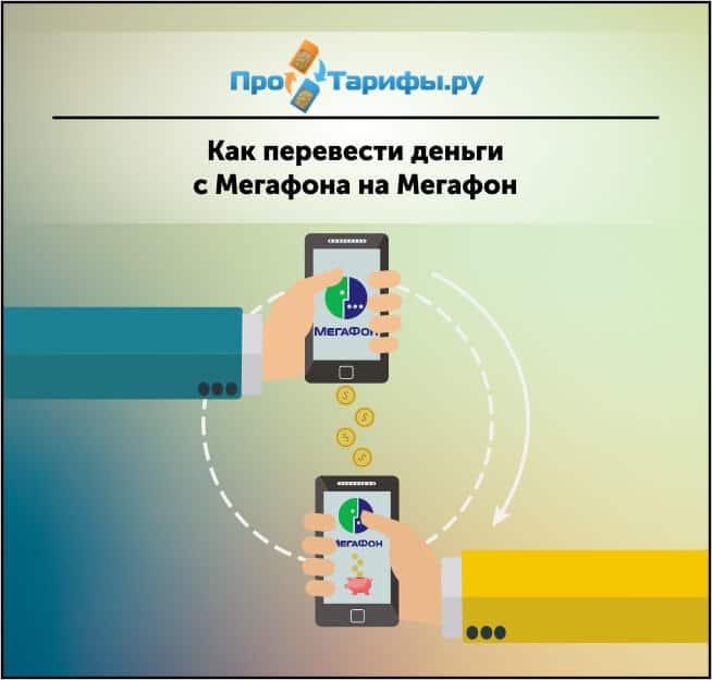 перевод средств с мегафона на мегафон