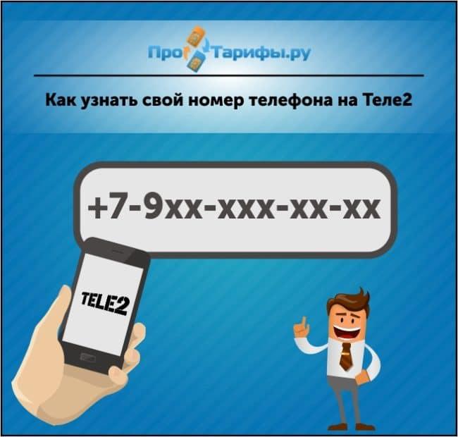 узнать свой номер Теле2