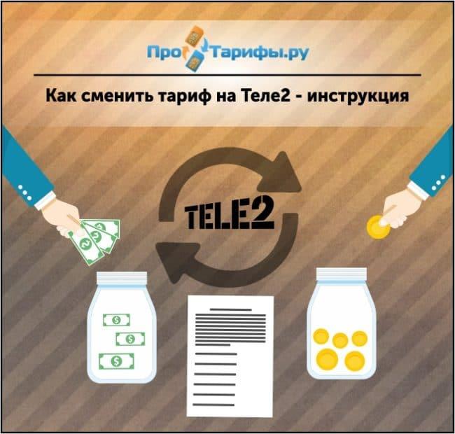 способы сменить тариф на Теле2