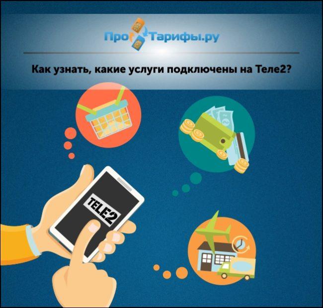 узнать, какие платные услуги подключены на Теле2
