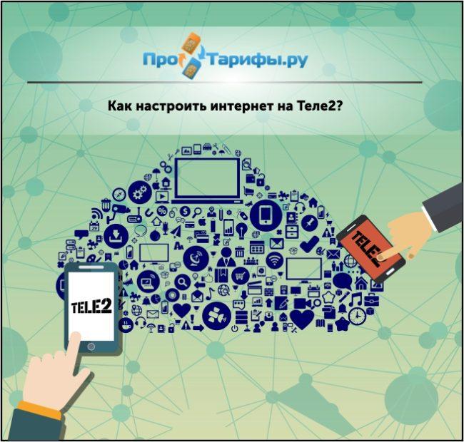 настроить интернет на Теле2