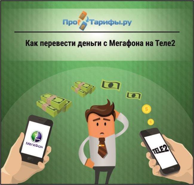 3 способа перевести деньги с Мегафона на Теле2