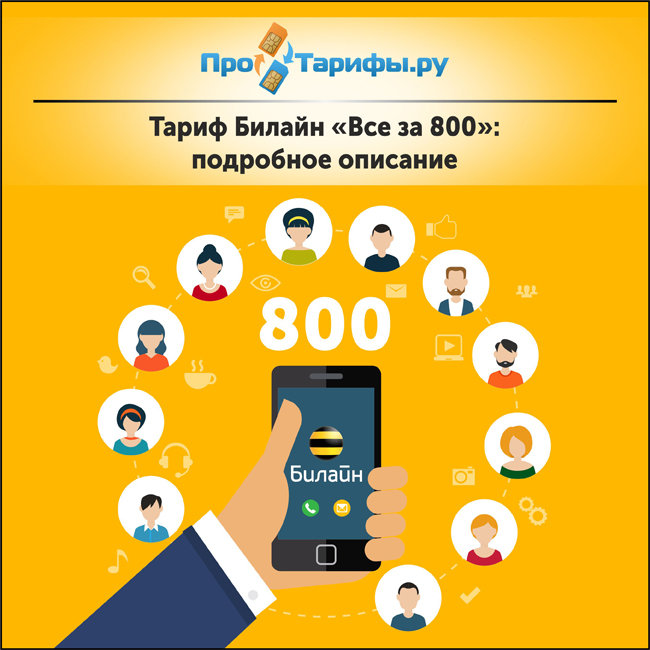 Тариф Билайн «Все за 800»