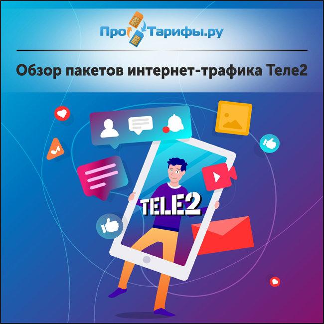 Обзор пакетов интернет-трафика Теле2