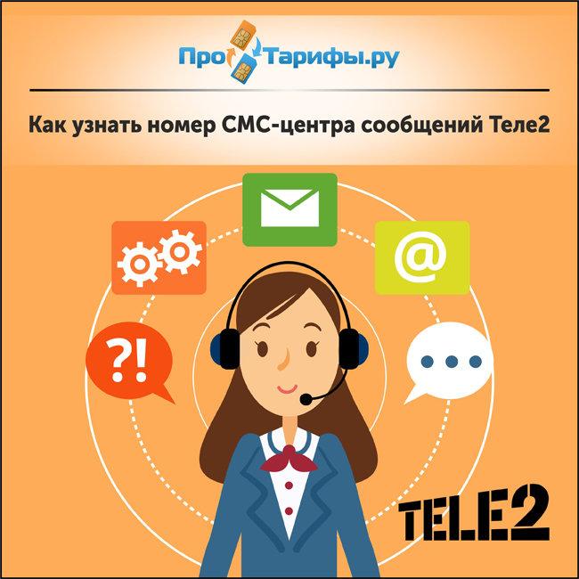 узнать номер телефона СМС-центра сообщений Теле2
