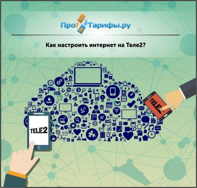 настроить мобильный интернет на Теле2